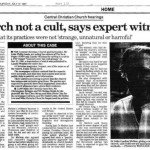 """Tan, Ooi Boon. """"Church not a cult, says expert witness."""" The Straits Times 17 July 1997: n. pag. Print."""